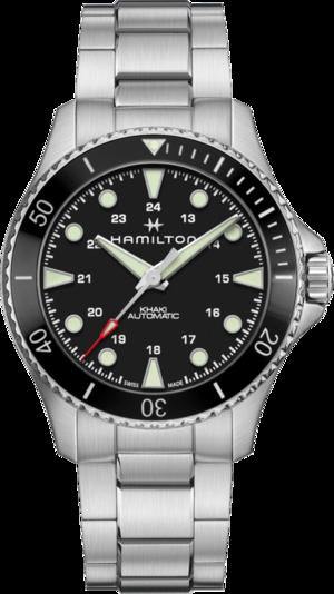 Herrenuhr Hamilton Khaki Navy Scuba Automatik 43mm mit schwarzem Zifferblatt und Edelstahlarmband