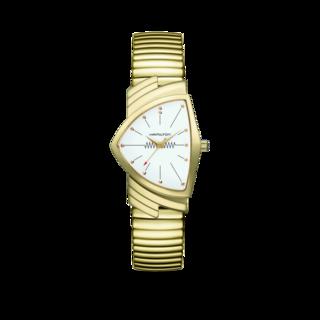 Hamilton Armbanduhr Ventura M Flex Quarz Gold H24301111