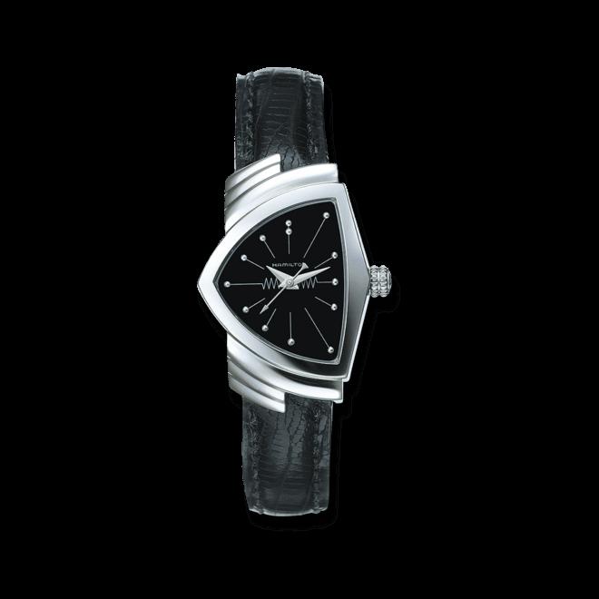 Herrenuhr Hamilton Ventura XS Quarz mit schwarzem Zifferblatt und Kalbsleder-Armband bei Brogle