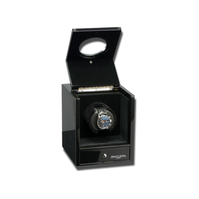 Uhrenbeweger Heisse & Söhne Uhrenbeweger Glamour Schwarz 1 aus Holz/MDF bei Brogle