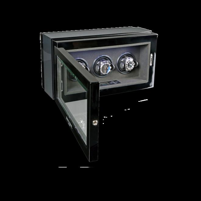 Uhrenbeweger Heisse & Söhne Uhrenbeweger Watch Master 3 aus Carbon und Holz/MDF bei Brogle