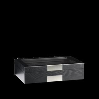 Heisse & Söhne Uhrenbox Monteray 10 Esche - Schwarz Seidenmatt 70019-108