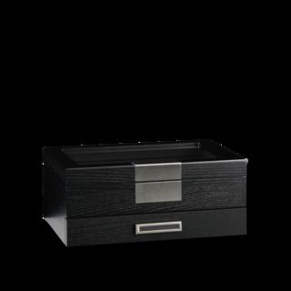 Heisse & Söhne Uhrenbox Monteray 10+ Esche - Schwarz Seidenmatt 70019-109