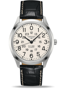 Herrenuhr Longines The Longines Railroad 40mm mit Alligatorenleder-Armband