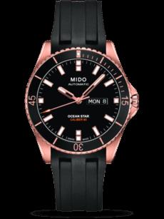 Herrenuhr Mido Captain Automatik 42,5mm mit schwarzem Zifferblatt und Kautschukarmband