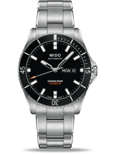 Herrenuhr Mido Ocean Star Automatik 42,5mm mit schwarzem Zifferblatt und Edelstahlarmband