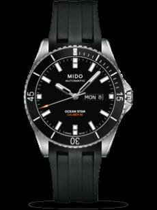 Herrenuhr Mido Ocean Star Automatik 42,5mm mit schwarzem Zifferblatt und Kautschukarmband
