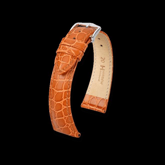 Uhren-Armband Hirsch Aristocrat Goldbraun Uhren-Armband mit silberfarbener Dornschließe   Anstoßbreite 20 mm   Länge 20 cm bei Brogle
