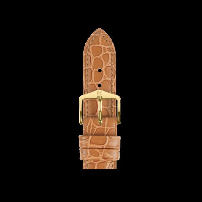 Uhren-Armband Hirsch Aristocrat Goldbraun Uhren-Armband mit goldfarbener Dornschließe   Anstoßbreite 12 mm   Länge 18 cm bei Brogle