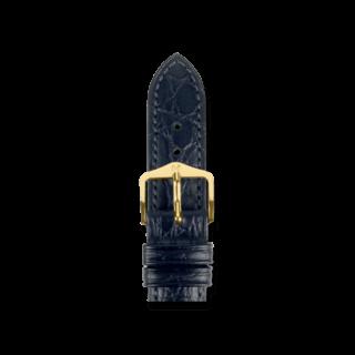 Hirsch Uhren-Armband Aristocrat Schwarz 03828150-1-12