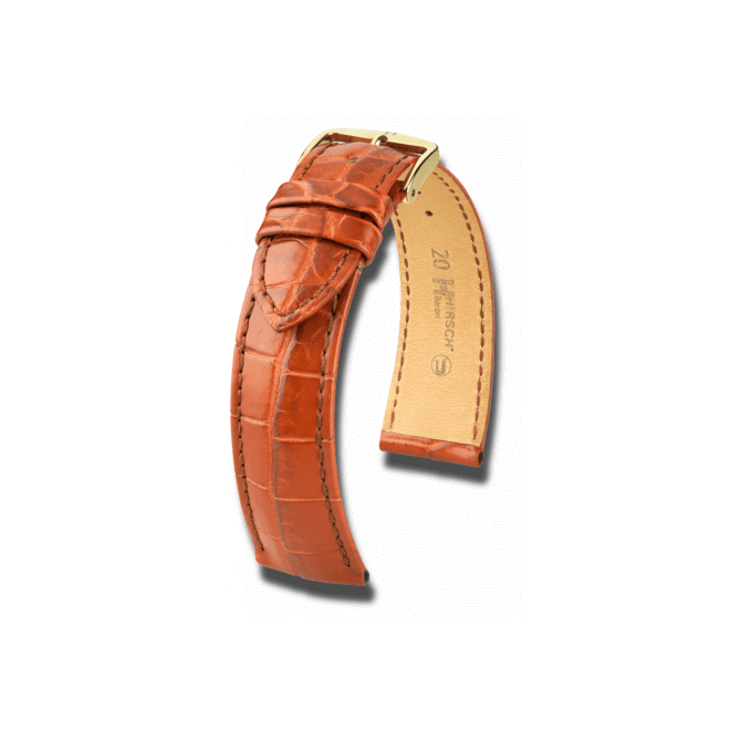 Uhren-Armband Hirsch Baron Schwarz Matt Uhren-Armband mit silberfarbener Dornschließe   Anstoßbreite 18 mm   Länge 20 cm bei Brogle