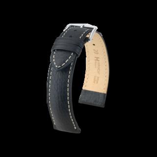 """Hirsch Uhren-Armband """"Boston L Schwarz"""" 01302050-2-20"""