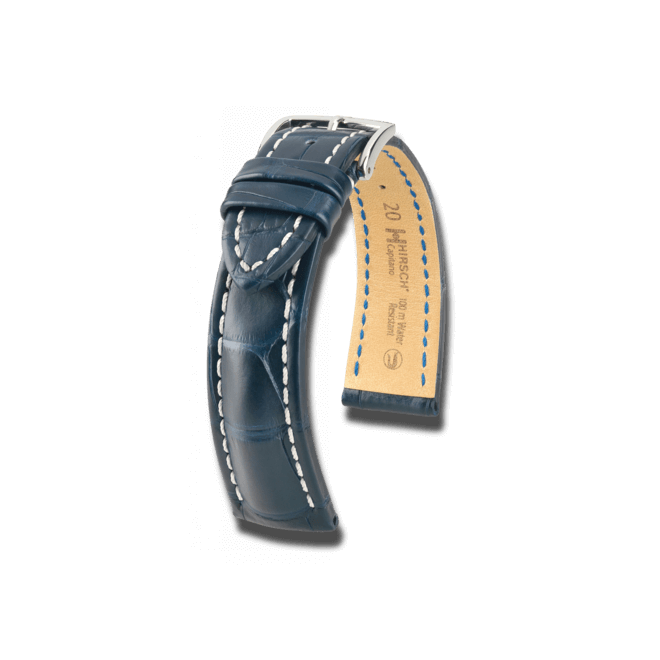 Uhren-Armband Hirsch Capitano Orange Uhren-Armband mit silberfarbener Dornschließe | Anstoßbreite 19 mm | Länge 20 cm bei Brogle