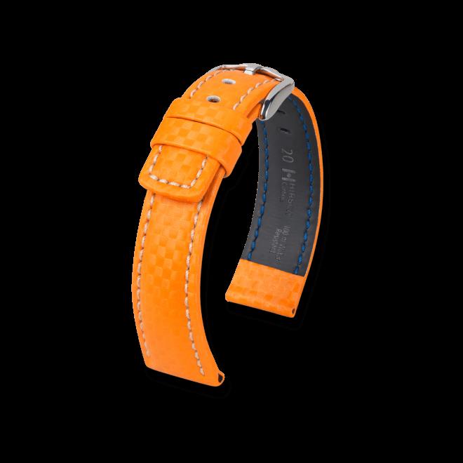Uhren-Armband Hirsch Carbon Schwarz Uhren-Armband mit silberfarbener Dornschließe | Anstoßbreite 18 mm | Länge 20 cm bei Brogle