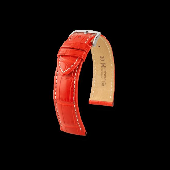 Uhren-Armband Hirsch Connoisseur Dunkelbraun Matt Uhren-Armband mit silberfarbener Dornschließe | Anstoßbreite 22 mm | Länge 20 cm bei Brogle