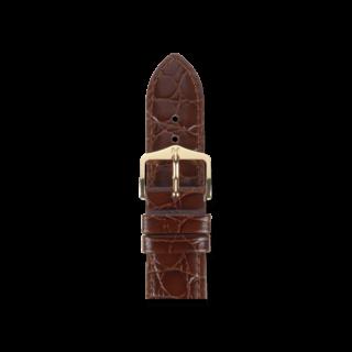 Hirsch Uhren-Armband Crocograin Braun 12322810-1-14