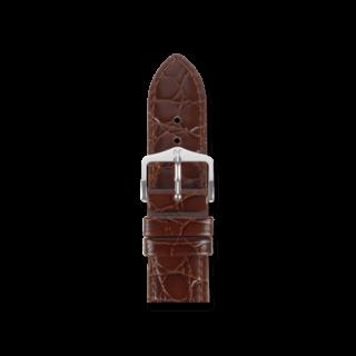 Hirsch Uhren-Armband Crocograin Braun 12322810-2-22