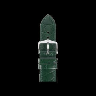 Hirsch Uhren-Armband Crocograin Grün 12302840-2-20