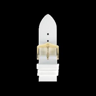 Hirsch Uhren-Armband Diamond Calf Weiß 14100200-1-18