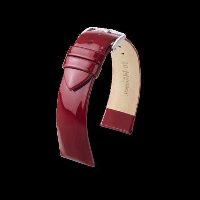 Uhren-Armband Hirsch Diva Rot Uhren-Armband mit silberfarbener Dornschließe | Anstoßbreite 18 mm | Länge 18 cm bei Brogle