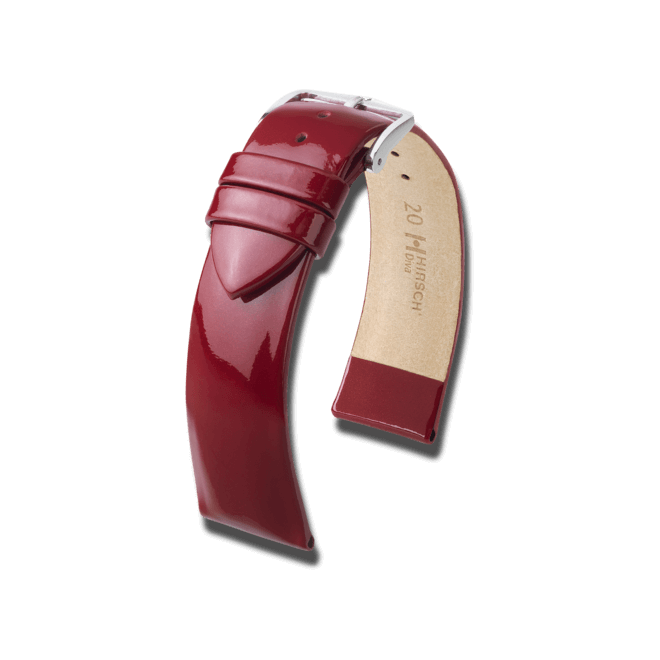 Uhren-Armband Hirsch Diva Schwarz Uhren-Armband mit silberfarbener Dornschließe | Anstoßbreite 20 mm | Länge 18 cm bei Brogle