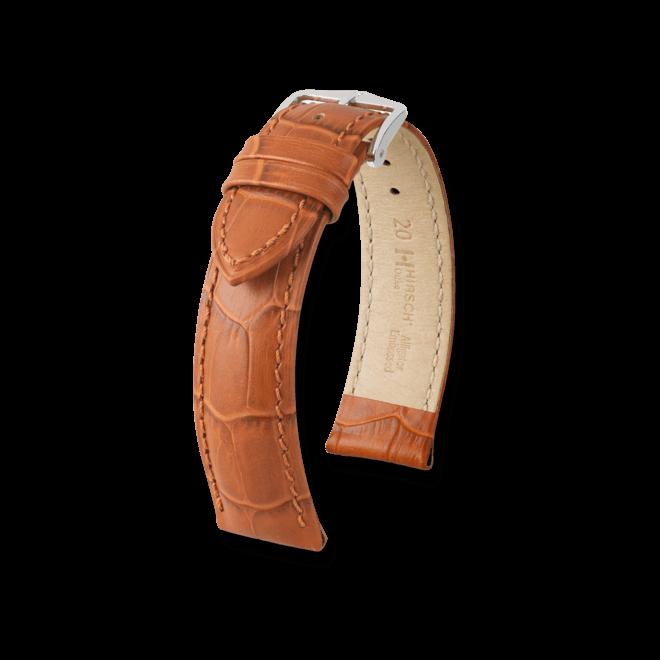 Uhren-Armband Hirsch Duke Braun Uhren-Armband mit silberfarbener Dornschließe | Anstoßbreite 22 mm | Länge 22 cm bei Brogle