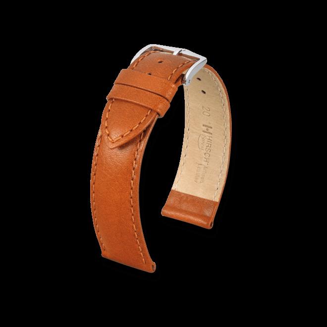 Uhren-Armband Hirsch Forest Goldbraun Uhren-Armband mit silberfarbener Dornschließe | Anstoßbreite 16 mm | Länge 18 cm bei Brogle