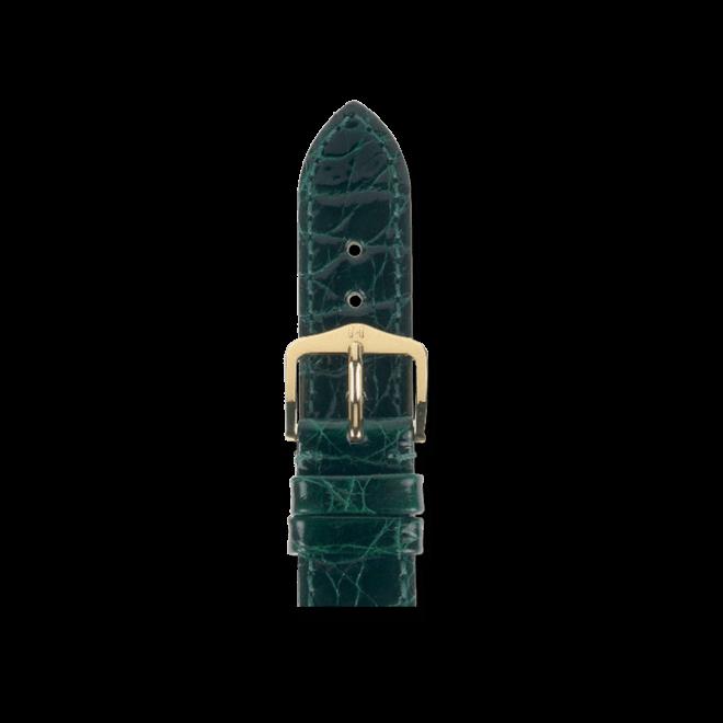 Uhren-Armband Hirsch Genuine Croco Grün Uhren-Armband mit goldfarbener Dornschließe | Anstoßbreite 13 mm | Länge 18 cm bei Brogle