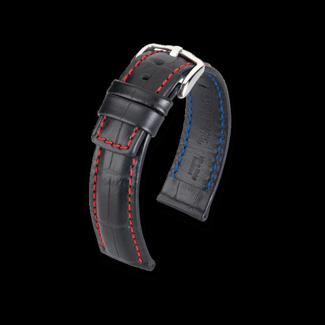 Uhren-Armband Hirsch Grand Duke Braun Uhren-Armband mit silberfarbener Dornschließe | Anstoßbreite 22 mm | Länge 20 cm bei Brogle