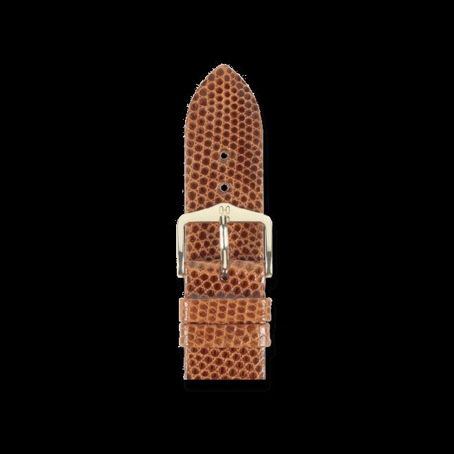 Uhren-Armband Hirsch Lizard Goldbraun Uhren-Armband mit goldfarbener Dornschließe | Anstoßbreite 20 mm | Länge 20 cm bei Brogle