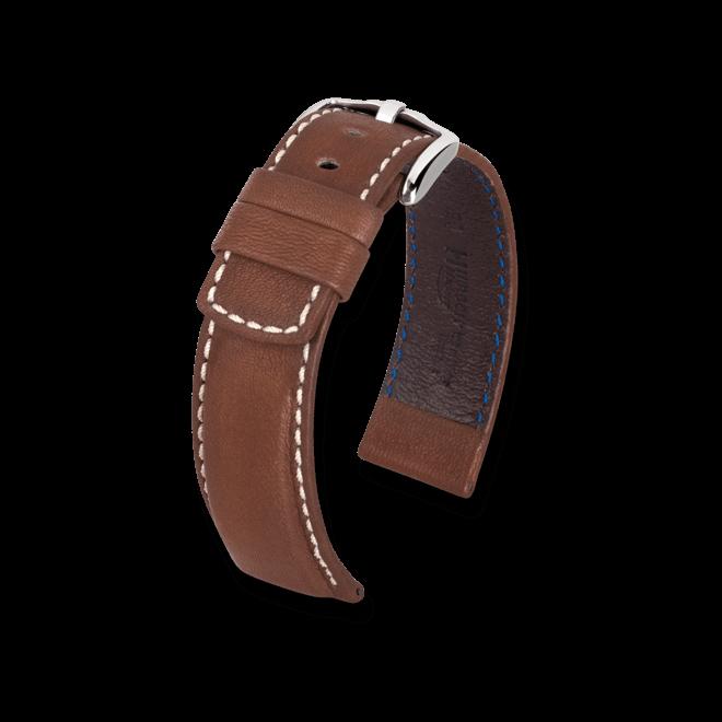 Uhren-Armband Hirsch Mariner Braun Uhren-Armband mit silberfarbener Dornschließe | Anstoßbreite 18 mm | Länge 20 cm bei Brogle