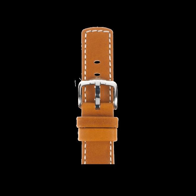 Uhren-Armband Hirsch Mariner Goldbraun Uhren-Armband mit silberfarbener Dornschließe | Anstoßbreite 18 mm | Länge 20 cm bei Brogle