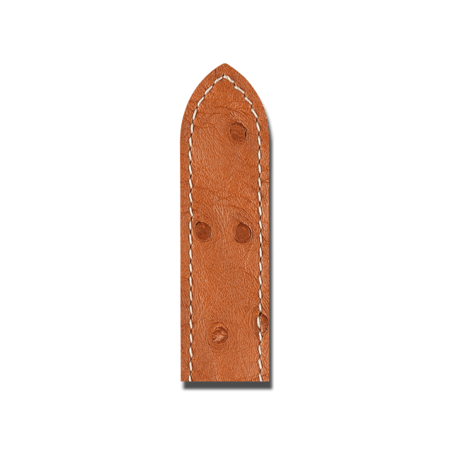 Uhren-Armband Hirsch Massai Ostrich Goldbraun Uhren-Armband mit goldfarbener Dornschließe | Anstoßbreite 16 mm | Länge 18 cm bei Brogle