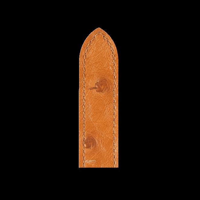 Uhren-Armband Hirsch Massai Ostrich Honig Uhren-Armband mit goldfarbener Dornschließe | Anstoßbreite 19 mm | Länge 20 cm bei Brogle