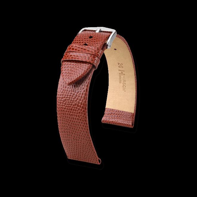 Uhren-Armband Hirsch Medea Goldbraun Uhren-Armband mit silberfarbener Dornschließe | Anstoßbreite 16 mm | Länge 20 cm bei Brogle