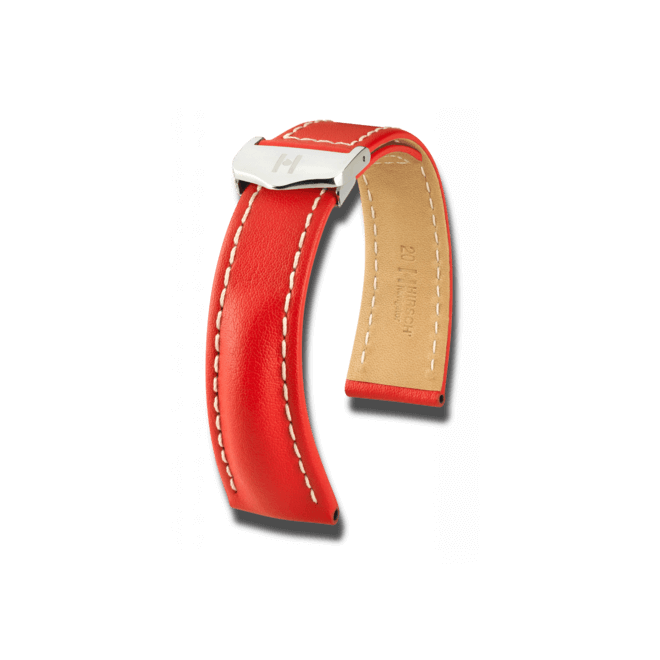 Uhren-Armband Hirsch Navigator Goldbraun Uhren-Armband mit silberfarbener Faltschließe | Anstoßbreite 20 mm | Länge 20 cm bei Brogle
