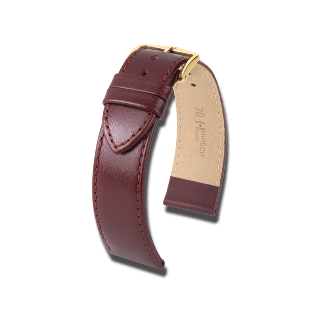 Uhren-Armband Hirsch Osiris Braun Uhren-Armband mit goldfarbener Dornschließe | Anstoßbreite 20 mm | Länge 20 cm bei Brogle