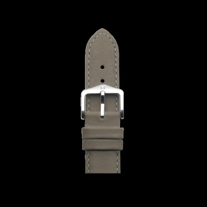Uhren-Armband Hirsch Osiris Grau Uhren-Armband mit silberfarbener Dornschließe | Anstoßbreite 22 mm | Länge 20 cm bei Brogle