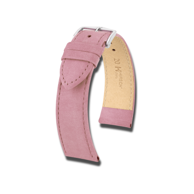 Uhren-Armband Hirsch Osiris Nubuk Limited Edition Uhren-Armband mit silberfarbener Dornschließe | Anstoßbreite 18 mm bei Brogle