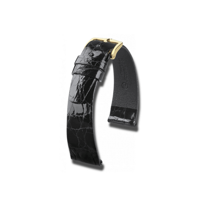 Uhren-Armband Hirsch Prestige Braun Uhren-Armband mit goldfarbener Dornschließe   Anstoßbreite 12 mm   Länge 18 cm bei Brogle