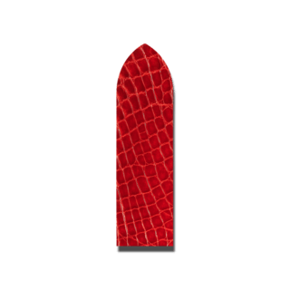 Hirsch Uhren-Armband Prestige Rot 02308120-1-14