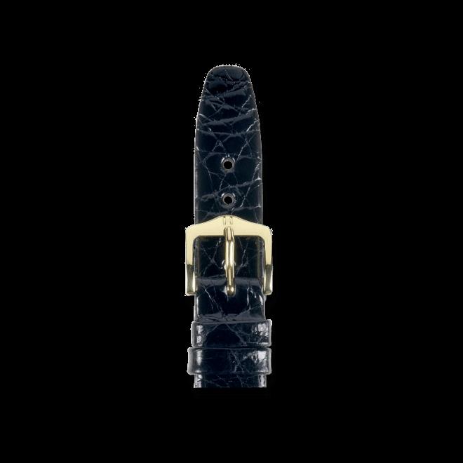 Uhren-Armband Hirsch Prestige Schwarz Uhren-Armband mit goldfarbener Dornschließe | Anstoßbreite 15 mm | Länge 18 cm bei Brogle