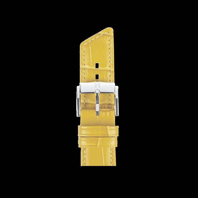 Uhren-Armband Hirsch Princess Gelb Uhren-Armband mit silberfarbener Dornschließe   Anstoßbreite 14 mm   Länge 18 cm bei Brogle