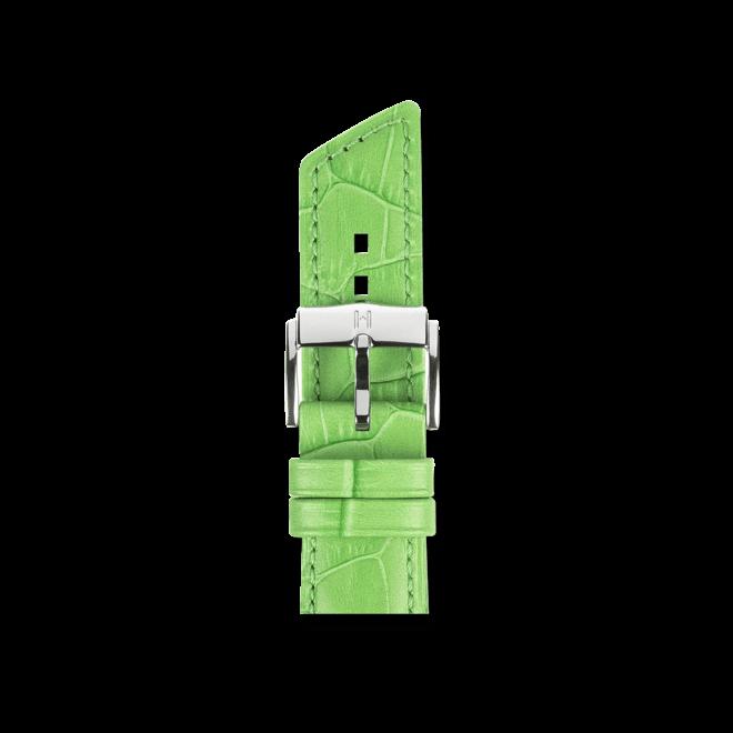Uhren-Armband Hirsch Princess Grün Matt Uhren-Armband mit silberfarbener Dornschließe | Anstoßbreite 20 mm | Länge 18 cm bei Brogle