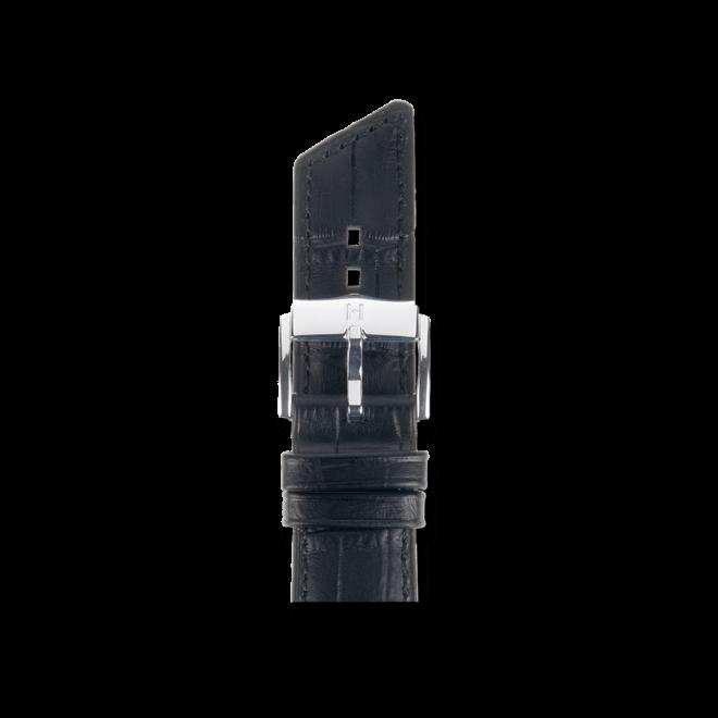 Uhren-Armband Hirsch Princess Schwarz Uhren-Armband mit silberfarbener Dornschließe | Anstoßbreite 20 mm | Länge 18 cm bei Brogle
