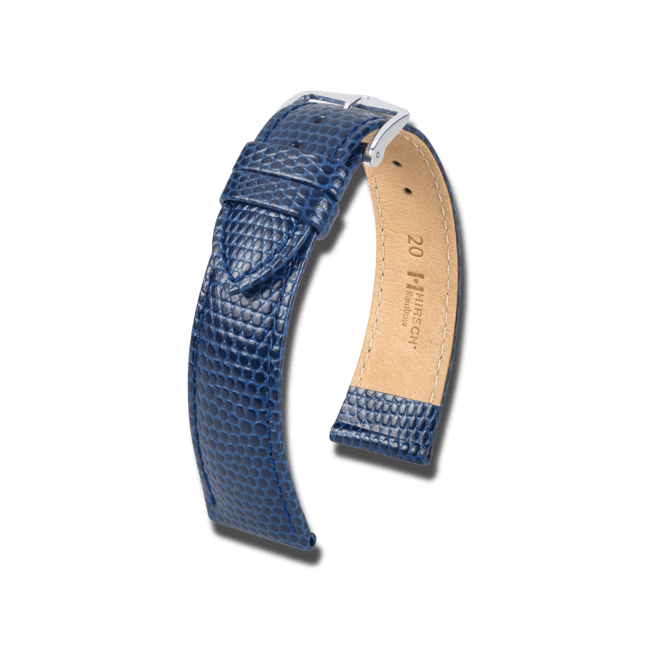 Uhren-Armband Hirsch Rainbow Blau Uhren-Armband mit silberfarbener Dornschließe   Anstoßbreite 14 mm   Länge 18 cm bei Brogle