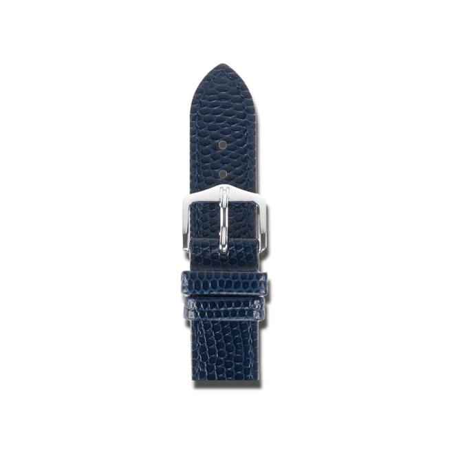 Uhren-Armband Hirsch Rainbow Blau Uhren-Armband mit silberfarbener Dornschließe   Anstoßbreite 18 mm   Länge 20 cm bei Brogle