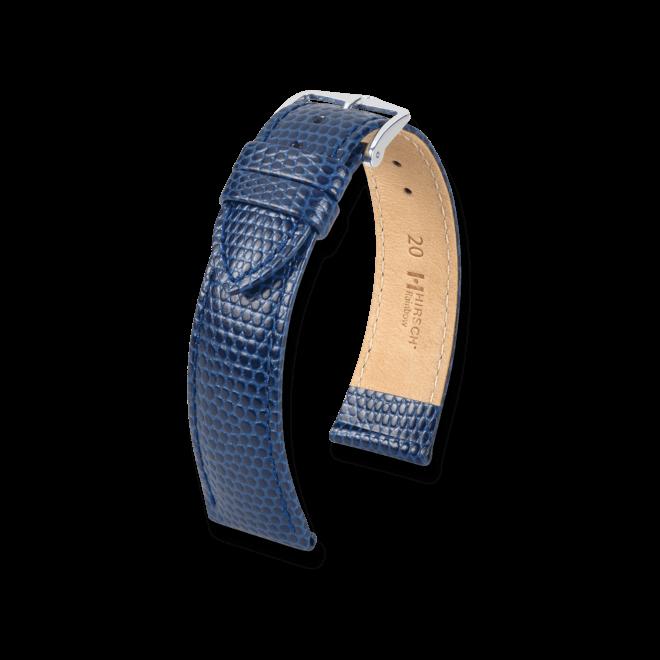 Uhren-Armband Hirsch Rainbow Blau Uhren-Armband mit silberfarbener Dornschließe   Anstoßbreite 20 mm   Länge 20 cm bei Brogle