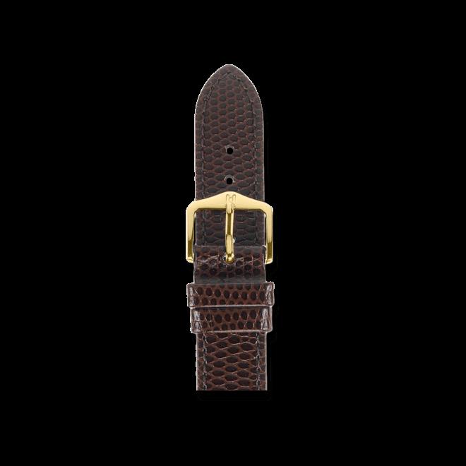 Uhren-Armband Hirsch Rainbow Braun Uhren-Armband mit goldfarbener Dornschließe   Anstoßbreite 19 mm   Länge 20 cm bei Brogle