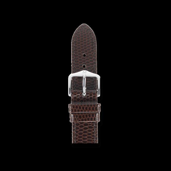 Uhren-Armband Hirsch Rainbow Braun Uhren-Armband mit silberfarbener Dornschließe | Anstoßbreite 16 mm | Länge 20 cm